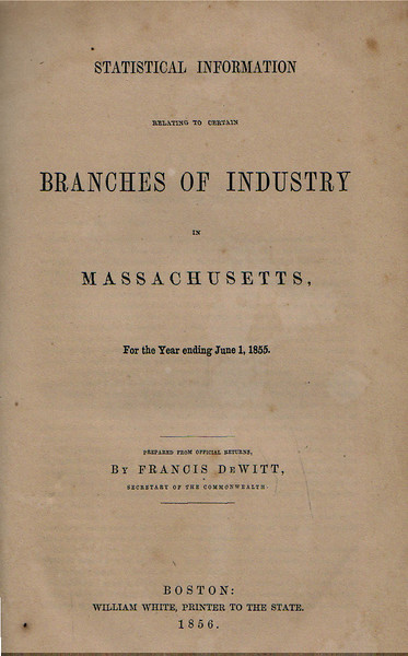 Mass Branches of Industry 1855