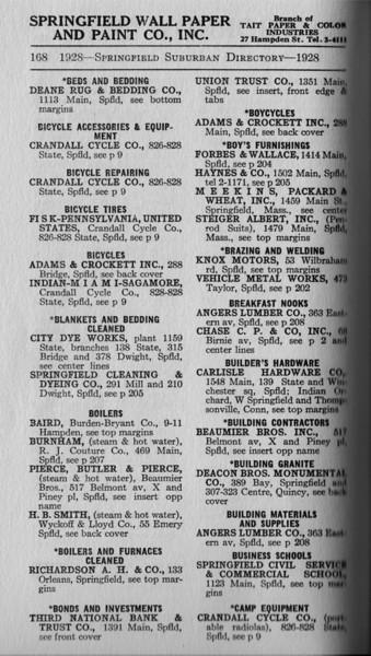 Springfield Bus Directory 1928