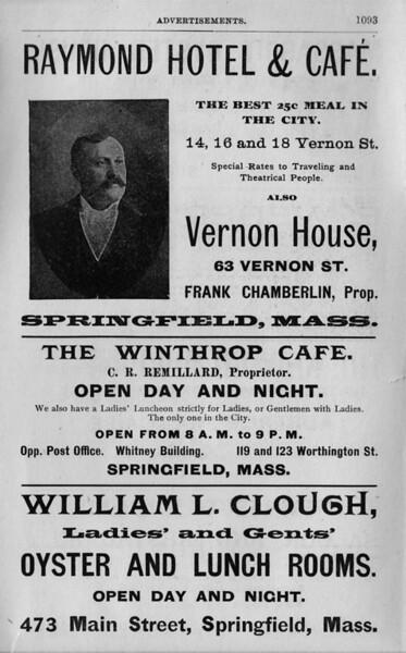 Springfield Directory Ads 1903
