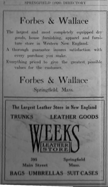 Springfield Directory Ads 1920