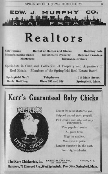 Springfield Directory Ads 1924