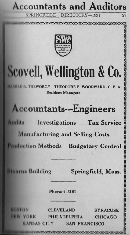 Springfield Directory Ads 1931