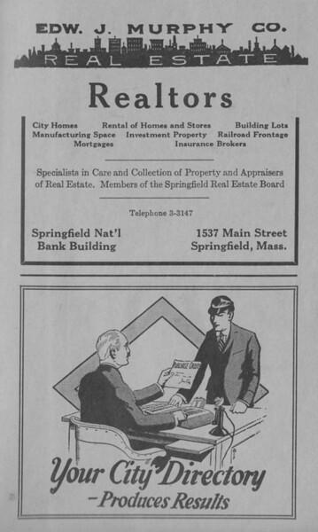 Springfield  Directory Ads 1933