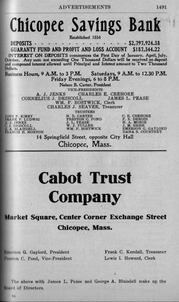 Suburban Directory Ads 1917