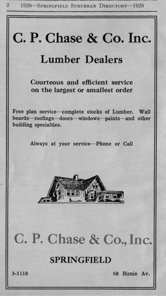 Suburban Directory Ads 1928
