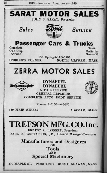 Suburban Directory Ads 1949